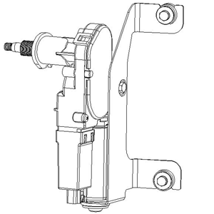 Wiper motor-With module and built-in connecting rod structure
